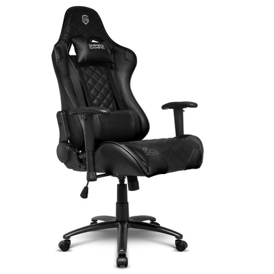 EMPIRE GAMING – Chaise Gamer Racing 700 Series Noir Ergonomique et inclinable - Accoudoirs 2D réglables - Coussins lombaires et Nuque Inclus