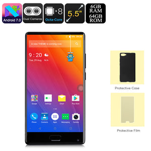HK Warehouse Doogee Mix Android-Handy - Octa-Core, 6 GB RAM, Dual-IMEI, 4G, Android 7.0, 5.5-Zoll-Display mit kleiner Blende (schwarz) - Beewik-Shop.com