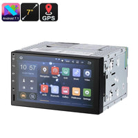 7 Inch 2 DIN Car Stereo - Universal Fitting, Android 7.1, HD Display, 4 Core CPU, 2GB RAM, GPS, Android Maps Support, Bluetooth