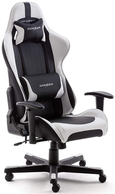 Robas Lund 62506SW5 DX Racer Gaming Chair / офисный стул PU черный / белый 52 x 53 x 126 см - Beewik-Shop.com