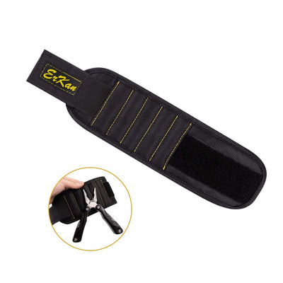ErKan Magnetic Wristband with 5 Super Powerful Magnet for Holding Tools Screws, Nails, Drill Bits - Beewik-Shop.com