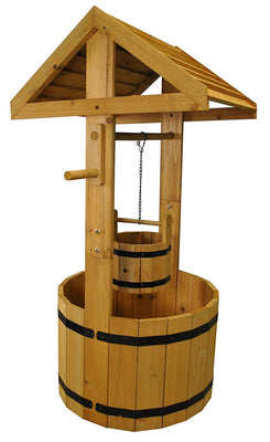 Selections Grande Wishing Well Pot de Jardin en Bois - Beewik-Shop.com