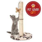 Animals Favorite Grattoir pour Chats avec Jouet Papillon Suspendu, Arbre à Chat Griffoir - Beewik-Shop.com