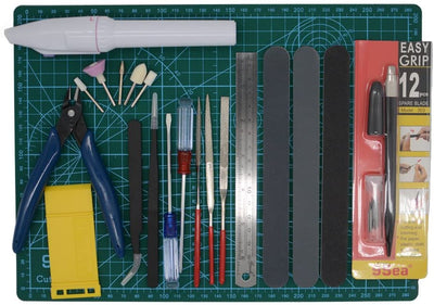 Gundam Modeler Builder's Tools Craft Set Kit 16 PCS For Professional Bendai Hobby Model Assemble Building - Beewik-Shop.com