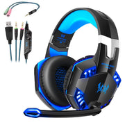 PS4 Gaming Headset, Xbox One Gamer Headset mit Mikrofon Rauschunterdrückung LED Bass Stereo Audio Lampe mit Mikrofon 3.5mm Buchse für PS4 / Xbox One / PC / Mac / Nintendo Switch / Computer / Tablet / Smartphone