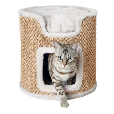 Trixie Tower Ria pour Chat Gris Clair/Naturel 37 cm - Beewik-Shop.com