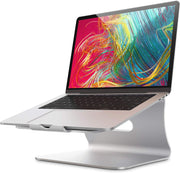 Bestand Support pour Ordinateur de Bureau pour Apple MacBook, MacBook Air/Pro, Huawei MateBook, HP, Lenovo, ASUS Laptop (Argent) - Beewik-Shop.com