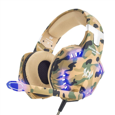 VersionTECH. Casque Gaming PS4 Pro Militaire Audio Anti-Bruit Filaire avec Micro, LED et Contrôle de Volume pour PC, Playstation 4, Xbox One, Macbook Pro, Macbook Air, Ordianteur – Camouflage - Beewik-Shop.com