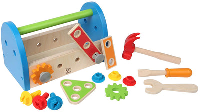 Hape Fix It Kid's Wooden Tool Box and Accessory Play Set - Beewik-Shop.com