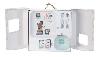 Babymoov Coffret Repas Lovely Bear Blanc - Beewik-Shop.com