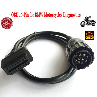 10 Pin OBD Adaptaeru broches, 10-Pin Adaptateur OBD2 à 10 broches pour motos - pour interface K-line et DCAN - Beewik-Shop.com