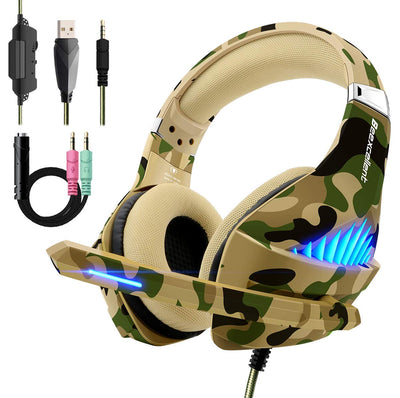 Beexcellent Cuffie da gioco per PS4 Xbox One, Cuffie da gioco con audio surround LED di ultimo modello 2018 - Beewik-Shop.com