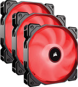 Corsair AF120, Air Series, 120mm LED Ventilateur Silencieux - Rouge (Pack Triple) - Beewik-Shop.com