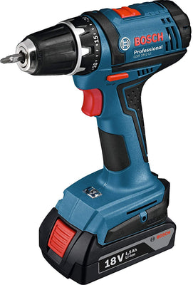 Bosch Professional Visseuse sans-Fil GSR 18-2 LI (2 Batteries 1,5 Ah, Chargeur, L-BOXX, 18 V, Couple Maxi : 38 Nm, Ø de Vissage Maxi : 7 Mm) - Beewik-Shop.com