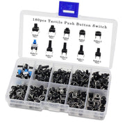 SODIAL Tactile Push Button Switch Micro-Momentary Tact Assortment Kit (6x6 Push Button Switch 180pcs) - Beewik-Shop.com