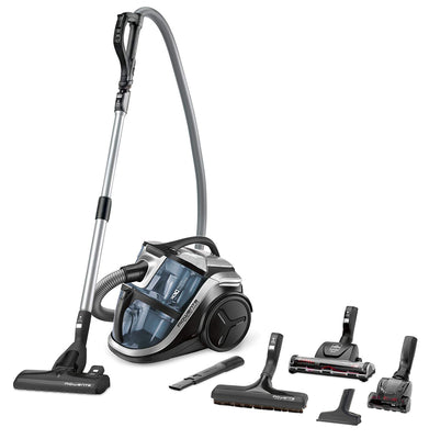Rowenta RO8366EA Aspirateur sans Sac Silence Force Multi-Cyclonic Animal Care Pro 3 AAA Silencieux 68dB Accessoires Spéciaux Poils d'Animaux et Voiture 750W Bleu et Noir - Beewik-Shop.com