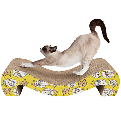 Animals Favorite Le Carton à Gratter pour Chat - Chat it Griffoir Carton - Beewik-Shop.com
