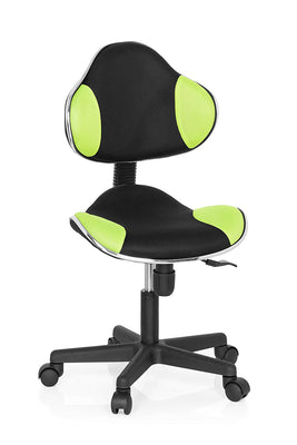 hjh OFFICE 634130 chaise de bureau enfant KIDDY GTI-2 noir/vert sans accoudoirs - Beewik-Shop.com