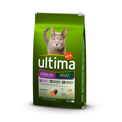Ultima Stérilisé Adult Saumon pour Chat 7,5 kg - Beewik-Shop.com
