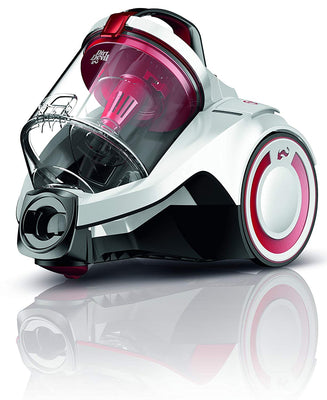 Dirt Devil DD2225-0 Rebel 25 HE Aspirateur sans Sac Cyclonique Blanc/Rouge - Beewik-Shop.com