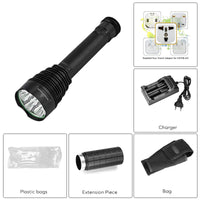 LED Flashlight - 8500 Lumen, 7x CREE XM-L T6 LEDs, Aluminum Alloy Body, 5 Light Modes - Beewik-Shop.com