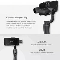 Zhiyun Smooth-Q Handheld Smartphone Gimbal - 3-Axis, Built-in Battery, Light Weight, Simple Design, App Support - Beewik-Shop.com