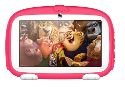 Android Tablet Computer – For Kids, 7 Inch Display, HD Visuals, 4000mAh Battery, Sophisticated Hardware, WiFi (Red) - Beewik-Shop.com