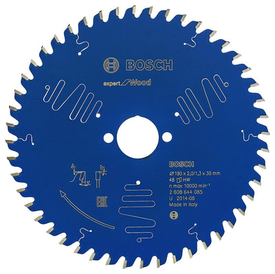 Bosch 2608644085 Lame de scie circulaire expert for wood 190 x 30 x 2,0 mm 48 - Beewik-Shop.com