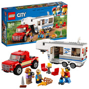LEGO City - Le pick-up et sa caravane - 60183 - Jeu de Construction - Beewik-Shop.com