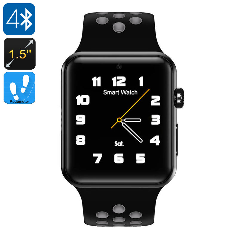 DM09 Plus Smart Watch Phone - Bluetooth 4.0, 1.5-Inch OLED Display, 1 IMEI, SMS, Calls, Social Media Notifications, Pedometer - Beewik-Shop.com