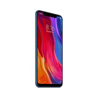 Xiaomi Mi 8 Smartphone - 6.21Inch AMOLED Screen, Octa Core, 128GB ROM, Dual GPS, Fingerprint, NFC (Blue)