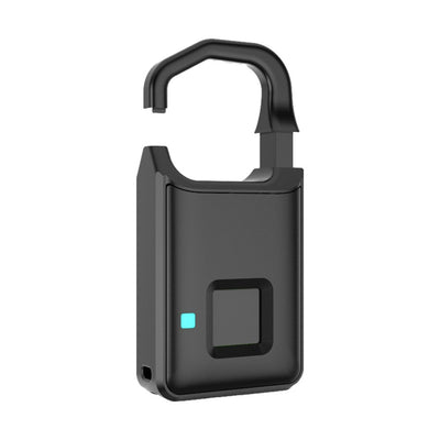 Cadenas Anytek Fingerprint Lock - Rechargeable par USB, Keyless intelligent, Sac de valise, Serrures de porte, Cadenas anti-vol, Sécurité intelligente