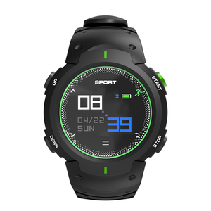 NO.1 F13 Smartwatch - Bluetooth 4.0, Heart Rate, Pedometer, Sedentary Reminder, Sleep Monitor, IP68 Waterproof (Green)