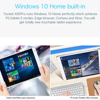 Tablette PC Teclast X80 Pro Dual-OS - Windows 10, Android 5.1, HDMI, Quad Core - Beewik-Shop.com
