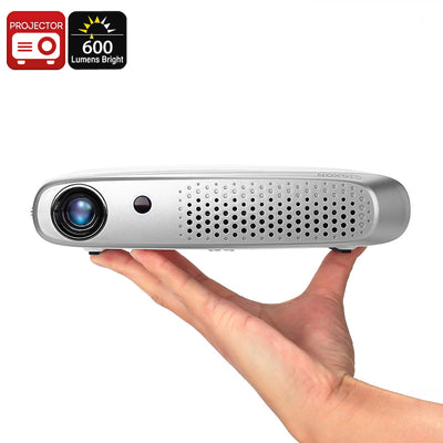Gigxon G-602 DLP Projector - 600 Lumen, Wi-Fi, 1200x800 Resolution, Android OS, Auto Keystone, 20 To 200 Inch, 2x HDMI, 2x USB - Beewik-Shop