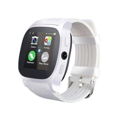 Bluetooth Smart Watch Phone Mate SIM FM Podomètre pour Android IOS iPhone Samsung blanc - Beewik-Shop.com