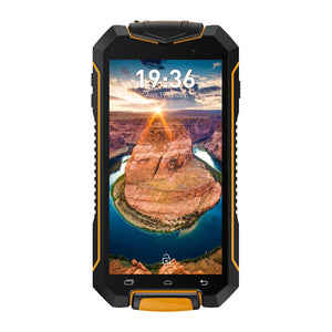 Robustes Geotel A1-Smartphone - 4.5-Zoll-Display, IP67, Android 7.0, Quad-Core-CPU, 8-Megapixel-Kamera, Dual-IMEI, 3400 mAh (orange) - Beewik-Shop.com