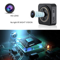 Mini WiFi Camera - 10MP CMOS, 720p HD Footage, 150-Degree Angle, Motion Detection, Rotating Magnetic Base, 5m Night Vision - Beewik-Shop.com