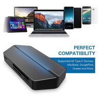 USB-C Travel Dock - VGA, HDMI, Micro SD, SD, Compact Flash, 3.5mm Audio, USB 3.0, USB-C, Supports All Major Brands - Beewik-Shop.com