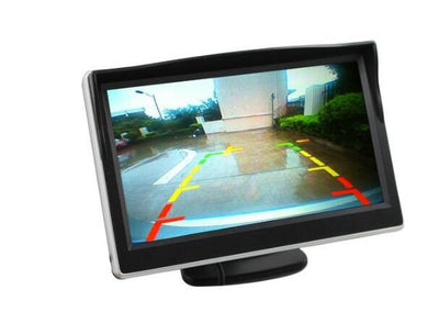 5Inch Rearview Mirror Monitor -  Button Control, 4_3 Ratio, 480x272 - Beewik-Shop.com