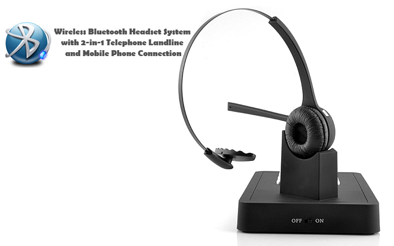 Handsfree Wireless Bluetooth Headset System 2 In 1 Telephone Landline And Mobile Phone Connection Beewik Shop
