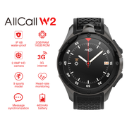 AllCall W2 IP68 Android Smartwatch - 3G, 1.39 inch Touch Screen, MTK 6580, Compass, Pedometer, Heart Rate Sensor, Android 7.0 - Beewik-Shop.com