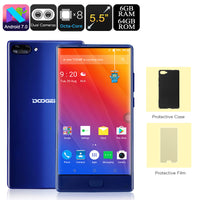 HK Warehouse Doogee Mix Android Phone - Android 7.0, Dual-IMEI, 4G, Octa-Core, 6GB RAM, 5.5-Inch Small Bezel Display (Blue) - Beewik-Shop.com
