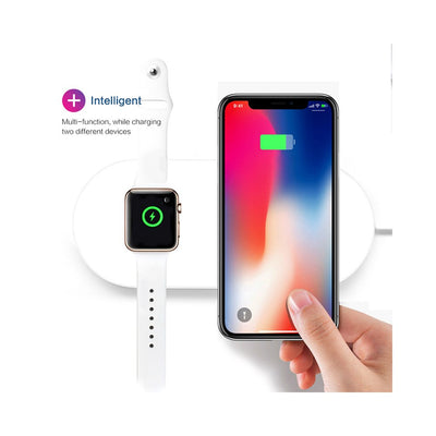 Pour iWatch 2 3 QI Wireless Charger Quick Fast Charging Pad pour Apple Watch Sumsang iPhone blanc - Beewik-Shop.com