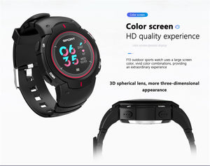 NO.1 F13 Smartwatch - Bluetooth 4.0, Heart Rate, Pedometer, Sedentary Reminder, Sleep Monitor, IP68 Waterproof (Gray)