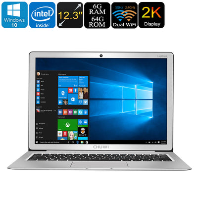 Chuwi Lapbook 12.3 Windows Laptop - 2K Display, Licensed Windows 10, Quad-Core CPU, 6GB DDR3 RAM, SSD Support, 12.3-Inch