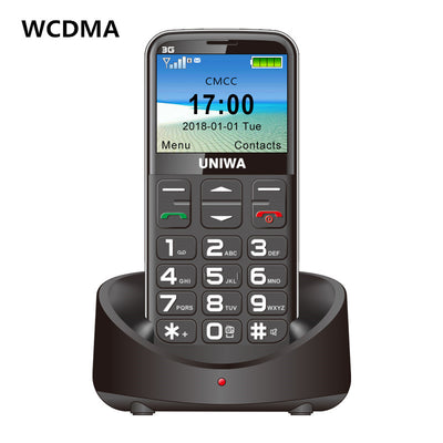 UNIWA 3G mobile phone with big keys - FM radio 3 MP camera, flashlight, 1400 mAh battery,  2.3 inches - Beewik-Shop.com