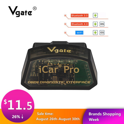 Vgate iCar Pro ELM 327 Bluetooth/WIFI OBD2 Scanner voiture diagnostics elm327 2.1 obd 2 obd2 outil de Diagnostic outil de scan pro odb2 chaud - Beewik-Shop.com