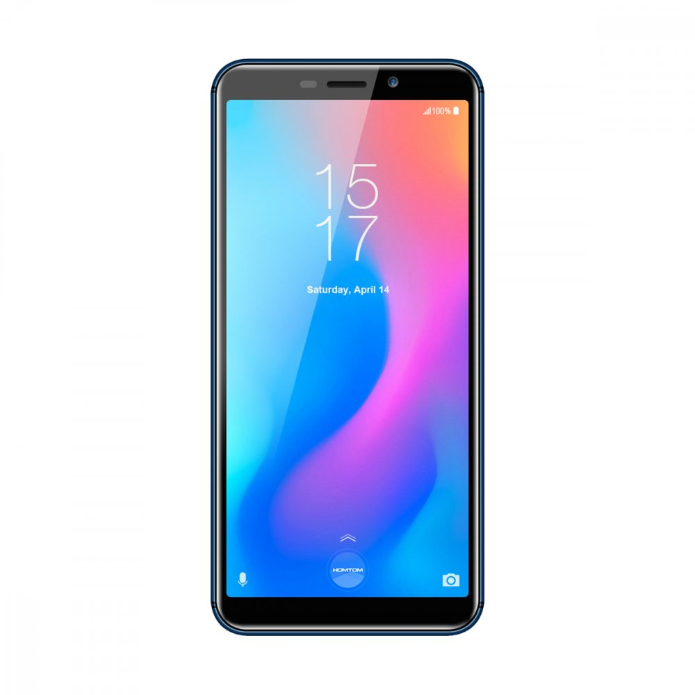 Smartphone HOMTOM C2  bleu, 5,5 pouces, 2GB RAM 16GB ROM, Android 8.1,  MTK6739 Ouad Core, charge rapide, 3000mAh Batterie
