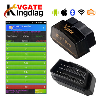 Vgate iCar Pro Bluetooth 4.0/3.0/WIFI OBD2 Scanner de Diagnostic automatique pour outil de Diagnostic de voiture Android/IOS ELM327 OBD V2.1 iCar 2 - Beewik-Shop.com